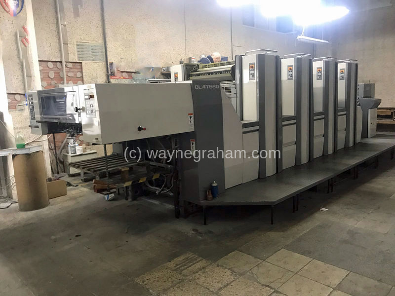 Image of Used Sakurai Oliver 475 SD Four Colour Printing Press