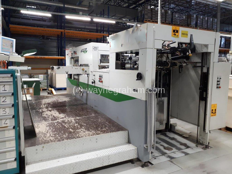Image of Used Bobst SP Evoline 102-E Die Cutter With Stripping Unit