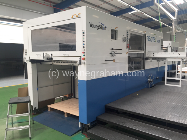 Image of Used YoungShin Revotec 145SR Die Cutter With Stripping Unit