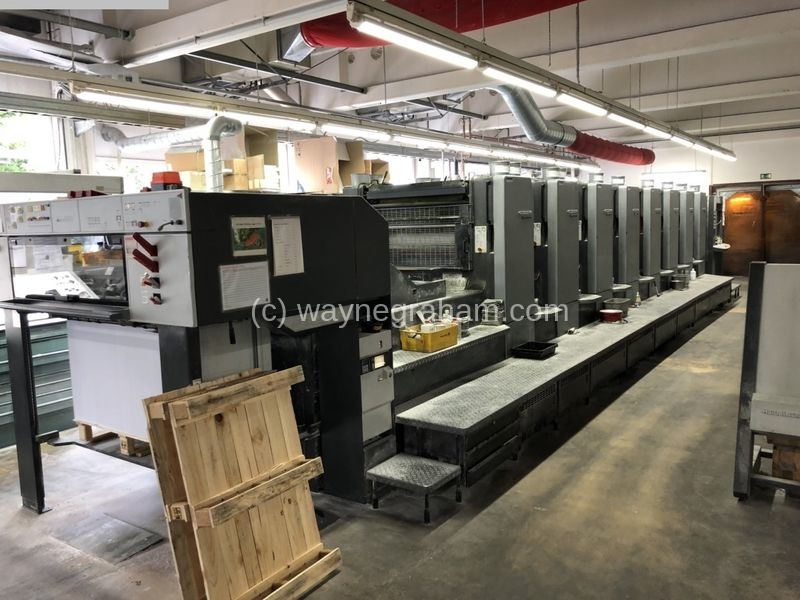 Image of Used Heidelberg Speedmaster 102-8-P-S Eight Colour Printing Press