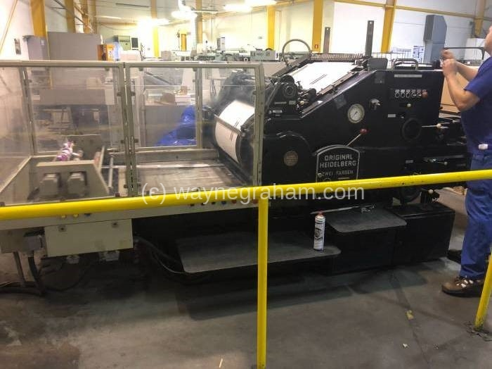 Image of Used Heidelberg SBD Cylinder With Hot Foiling Attachment