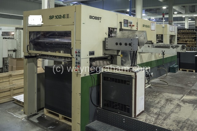 Image of Used Bobst SP 102-E II Die Cutter With Foiling Unit