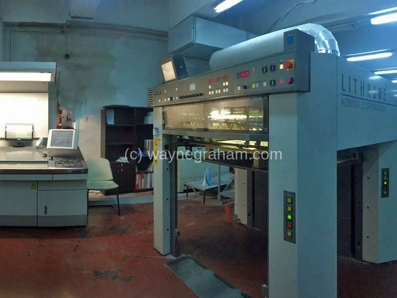 Image of Used Komori Lithrone S 540+C Five Colour Printing Press With Coating Unit