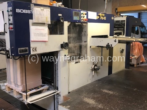 Image of Used Bobst SP 76-E Die Cutter With Stripping Unit
