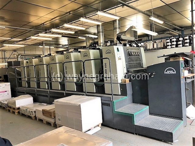 Image of Used Roland 506 HOB+L Six Colour Printing Press With Coating Unit And Interdeck UV Dryers