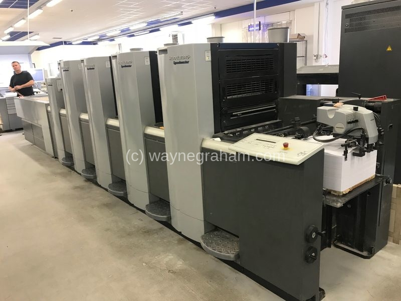 Image of Used Heidelberg Speedmaster SX 52-4-LX Anicolor Four Colour Printing Press With Coating Unit