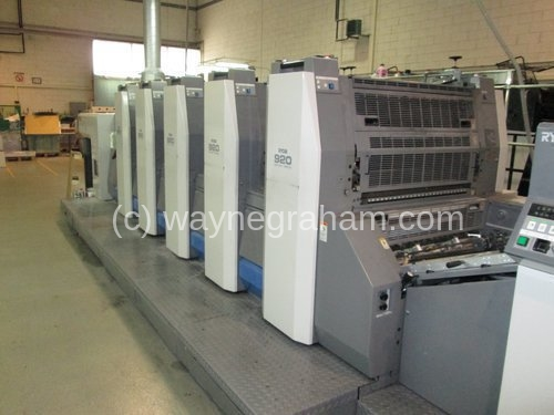Image of Used Ryobi 925 Five Colour Printing Press
