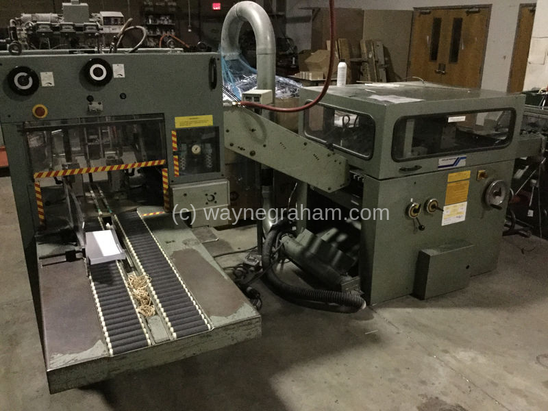 used Muller Martini Model 1509 Gatherer Stitcher Line for sale