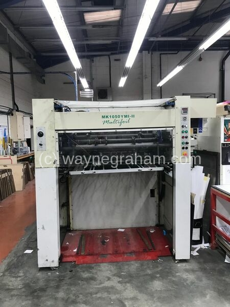 image of used MK 1050 YMI hot foiling machine for sale year 2006
