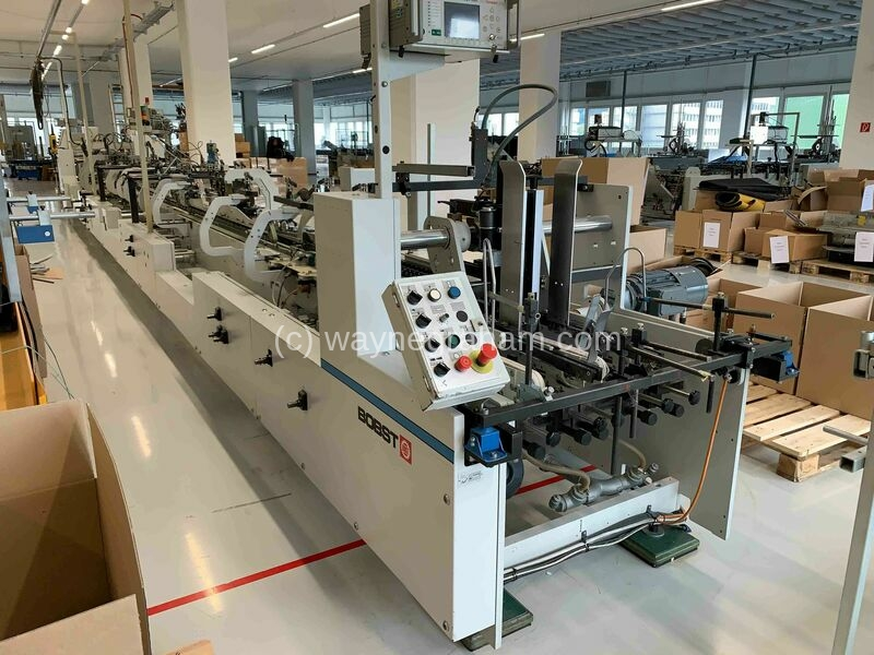 Image of used Bobst Alpina 75 folding carton glueing line for sale