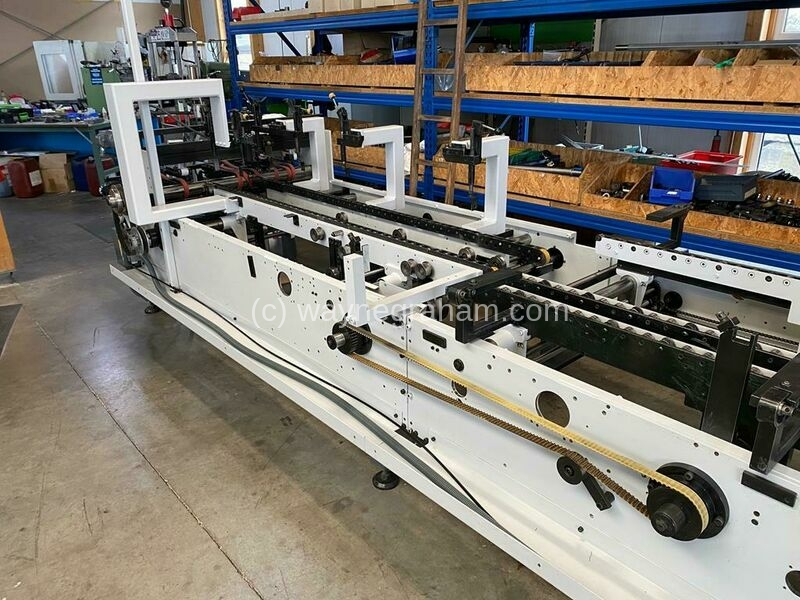 Image of used Bobst Media 100 II folding carton glueing line for sale