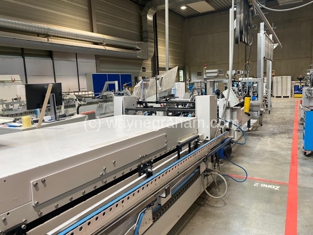 Image of 2003 Bobst Media 100 III Folding Carton Glueing Line for sale