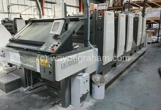Image of used Komori Enthrone E-529 five colour printing press for sale